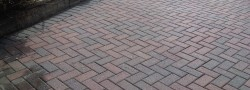 Cleaning external paviours, block driveways and patio slabs.